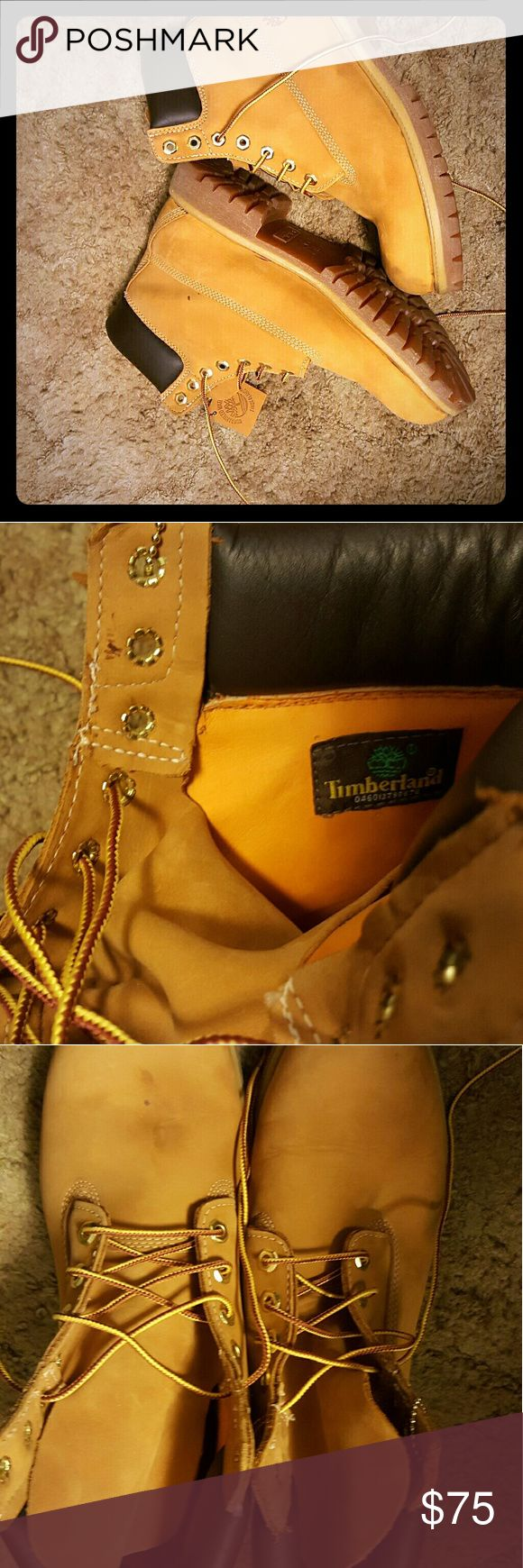 Brand new size 10M timberland men boots These are size 10M, brand new, men's timberland boots. They have a tiny scuff on one boot which is in the picture. Timberland Shoes Boots