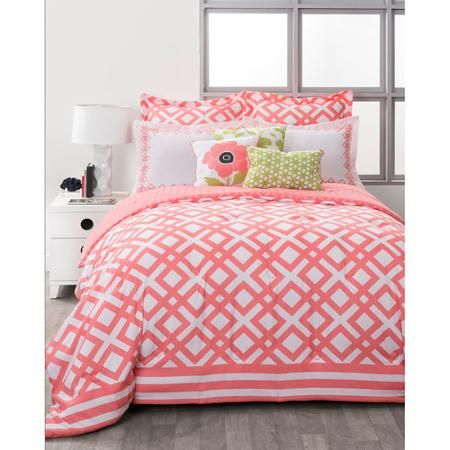 Style Nest La Jolla Coral Bed-in-a-Bag 8-Piece Bedding Set - Walmart.com