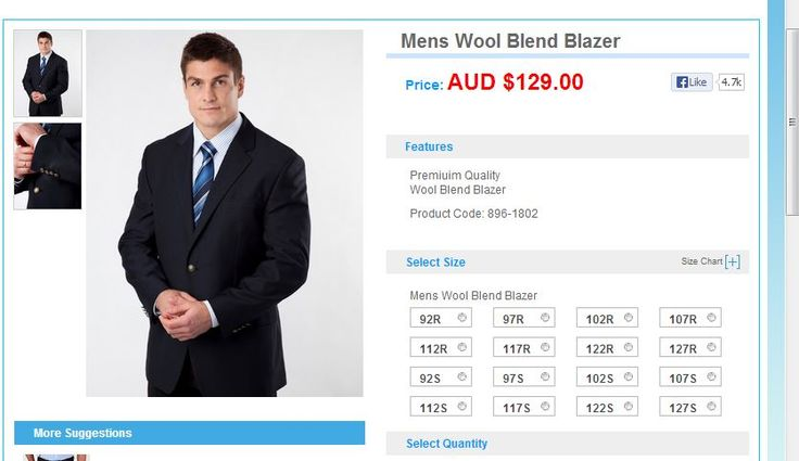 30jun2013 lowes Wool Blend Blazer $129 896-1802