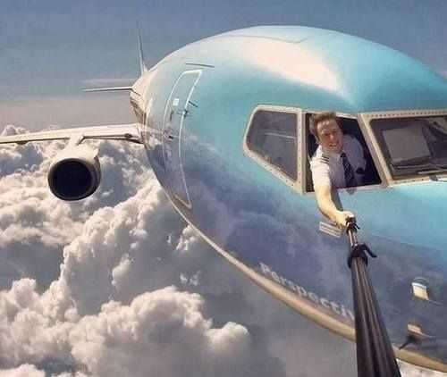 funny pictures of the day (64 pics) Selfie Level Plane