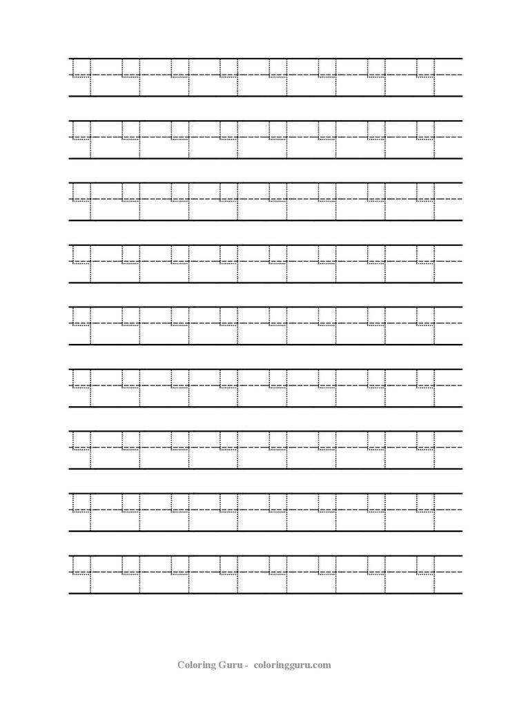 Free Printable Tracing Number 4