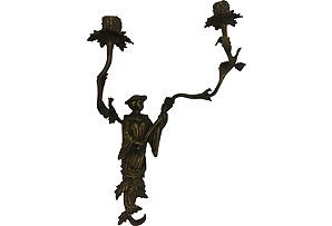 Antique Chippendale Sconce...very cool chinoiserie!