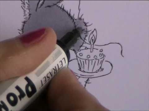 HOW TO COLOUR IN A GREY ANIMAL WITH PROMARKER OR COPIC PENS