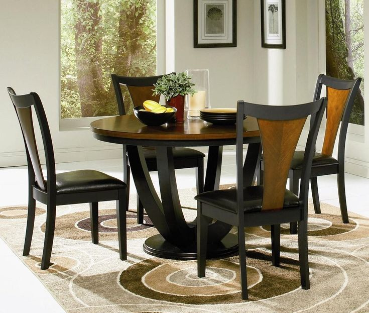 Painting Of Round Kitchen Table Set For 4 A Complete Design For Small Family