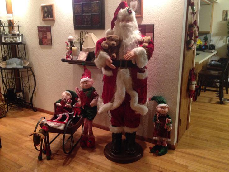 Christmas scene at mi casa