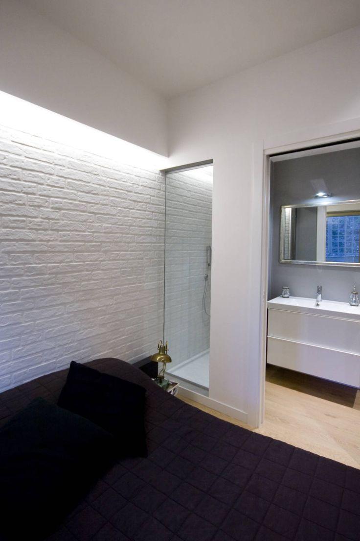 Bagno in camera con doccia a vista