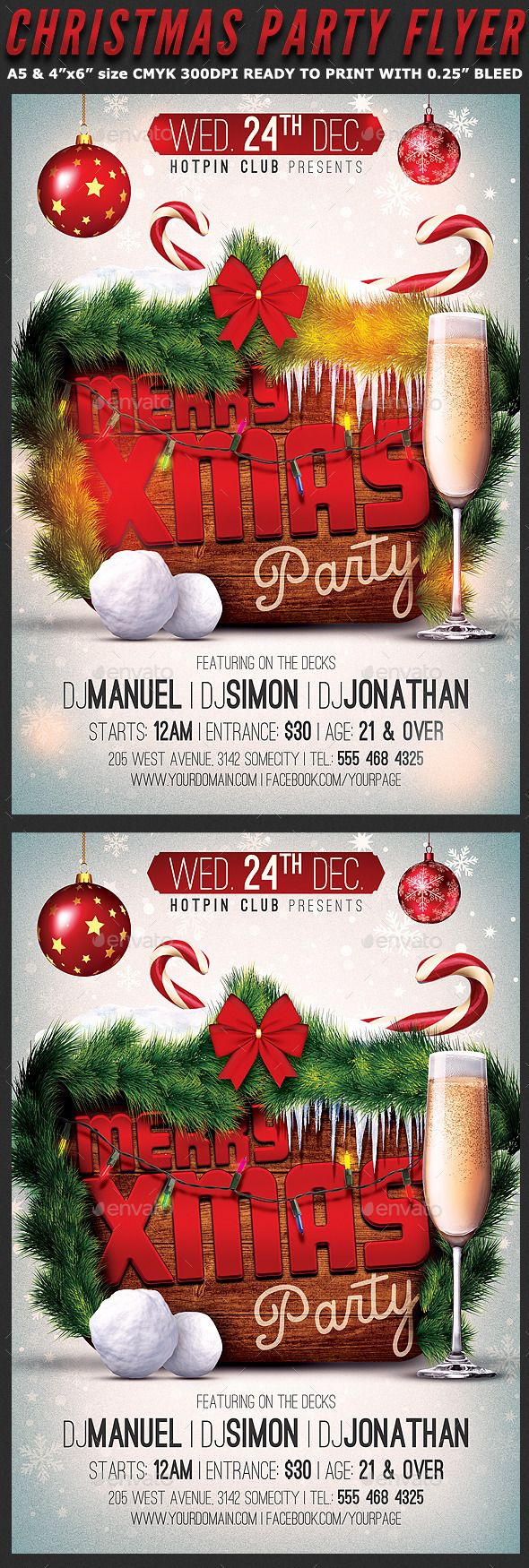 17 best images about merry christmas flyer template merry christmas party flyer template