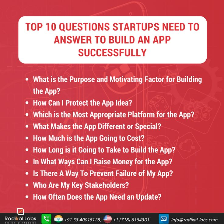 Top 10 Questions Startups Need to Answer to Build an App Successfully