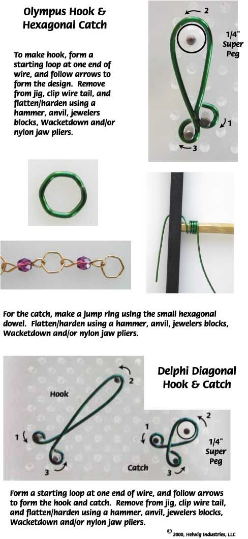 249 best WIRE WORK INSTRUCTIONS images on Pinterest | Wire jewelry ...