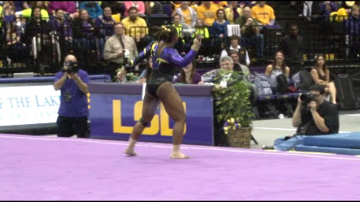 Lloimincia Halls's Perfect 10 vs. Alabama 1.31.14. Like... WOW. Best gymnastics routine I've ever seen. And some sick dance moves!!