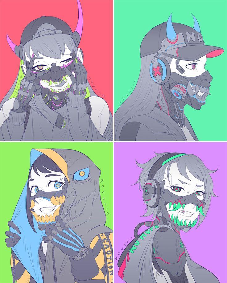ArtStation Masks, Koyori n Concept art characters