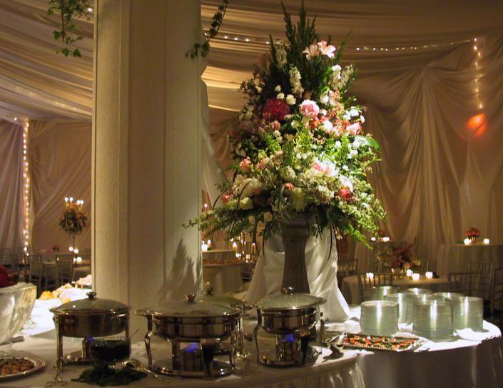 Buffet Table Ideas Wedding Reception: Wedding Buffet Table Flower Decorations