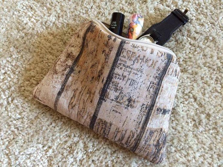 Beauty Case - Schminktasche braun grau Holz Shabby Vintage Kosmetiktasche Tasche   eBay