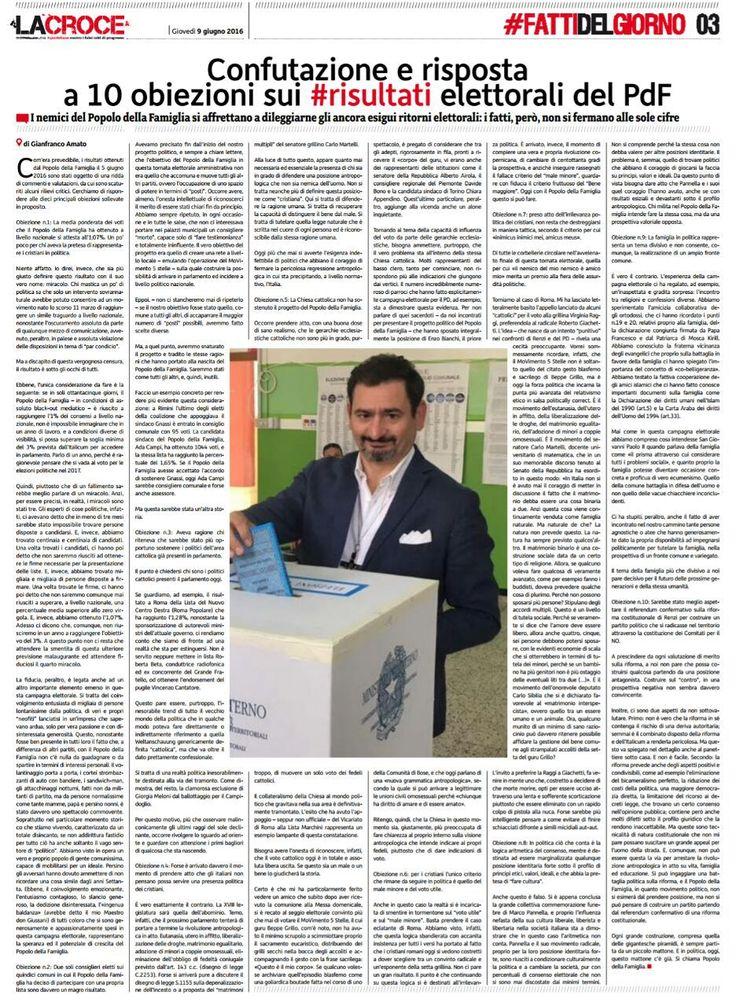 Confutazione e risposta a 10 obiezioni sul risultato elettorale del PdF – Gianfranco Amato