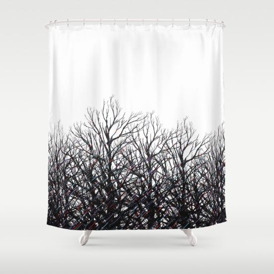 Stunning Black Tree Shower Curtain Designs. Unique, classy and elegant. Sale and Discounts online.