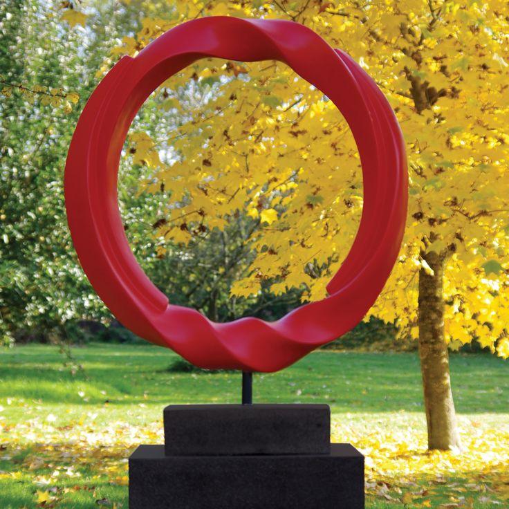 Vortex Contemporary Garden Sculpture on Pedestal. Buy now at http://www.statuesandsculptures.co.uk/vortex-contemporary-garden-sculpture-on-pedestal