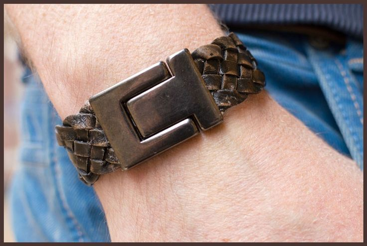 DIY pakket 20mm leather bracelet