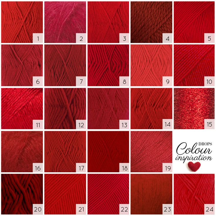 On February 14th we celebrate love with #ValentinesDay. Why not make it a year round celebration wearing beautiful red shades! #Garnstudio #yarn