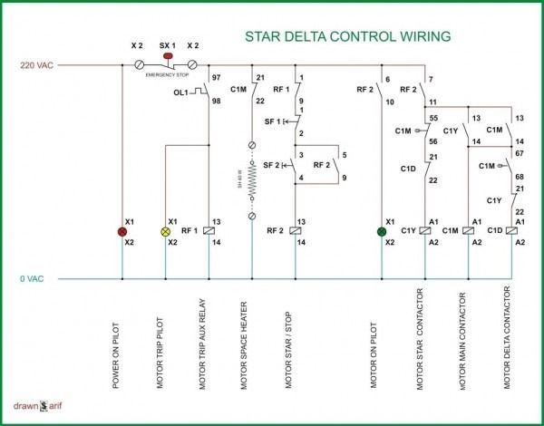 wiring diagram of cold storage  electrical circuit diagram