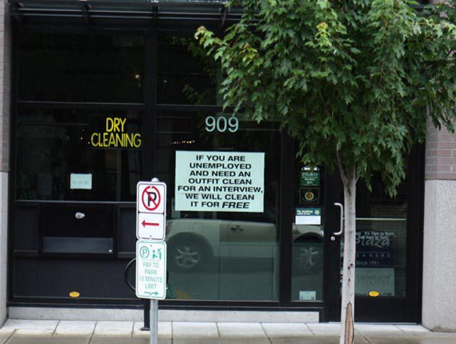 Dry Cleaner Helps the Unemployed