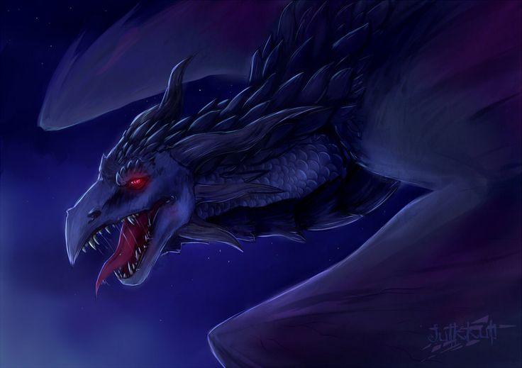 Dragon of Darkness by Julkkuli.deviantart.com on @DeviantArt
