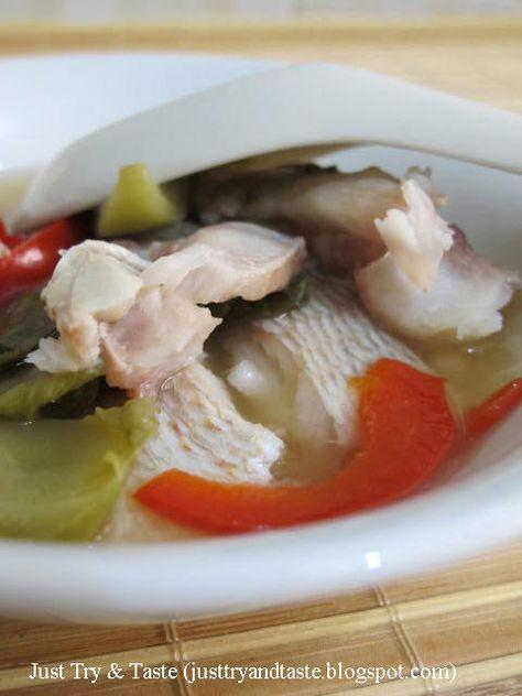 Just Try & Taste: Tim Ikan Dengan Sawi Asin & Paprika