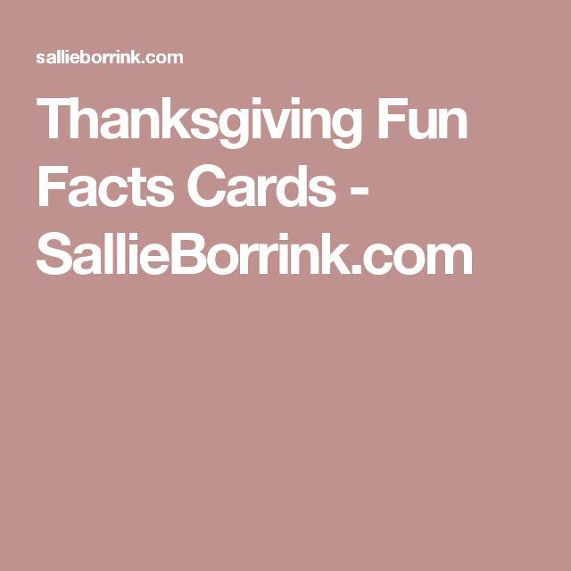 Thanksgiving Fun Facts Cards - SallieBorrink.com