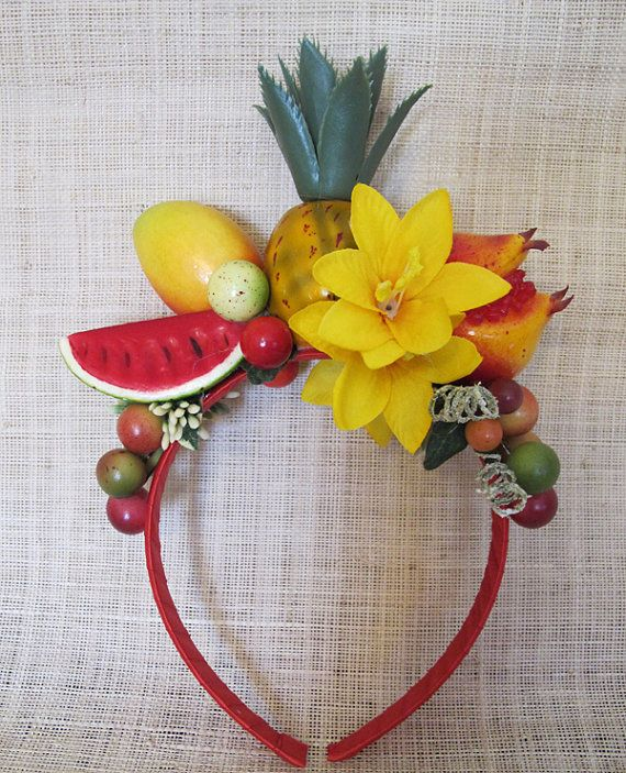Tropical Fruits Headband Carmen Miranda style by olgadesigns
