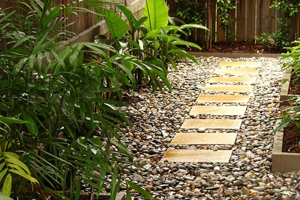50 best front garden driveway images on pinterest for Garden designs brisbane