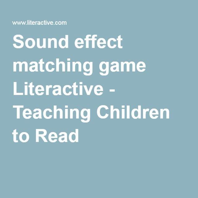 Sound effect matching game Literactive - Teaching Children to Read