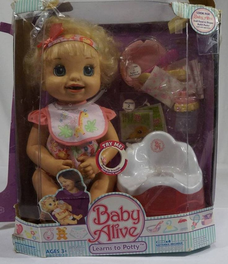 Baby Alive Learns To Potty Hasbro 2007 Talking Doll
