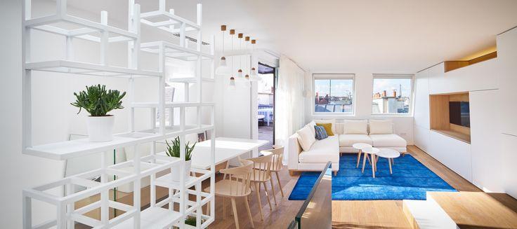 Rénovation appartement duplex- interieur contemporain paris par l'agence capo architectes