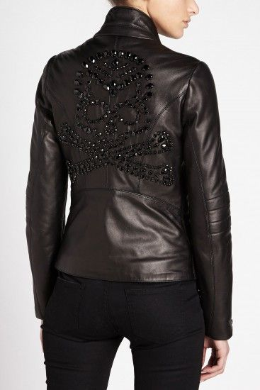Philipp Plein 'Rock Skull' Leather Jacket