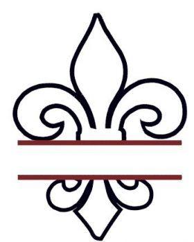 All Designs :: Split Fluer de Lis Applique