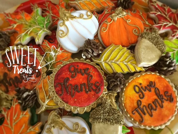 Thanksgiving Cookies Give Thanks Happy Thanksgiving