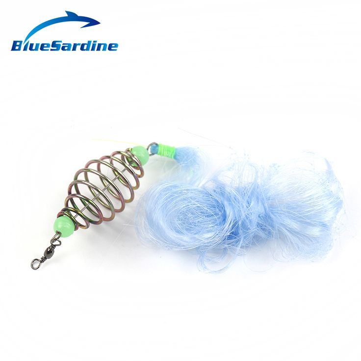 BlueSardine Hot Sale 5pcs Fishing Net Large Middle Small Size Nylon Fish Trap Luminous Beads Swivel for All Fish  Fishing Tackle
