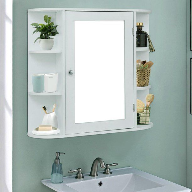 39++ Wall mounted bathroom cabinet with mirror inspiration