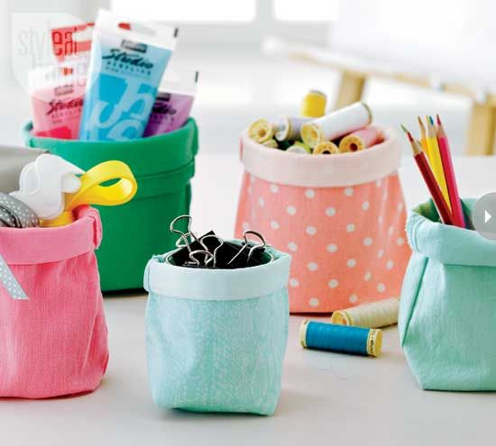 diy storage bins from old jeans!