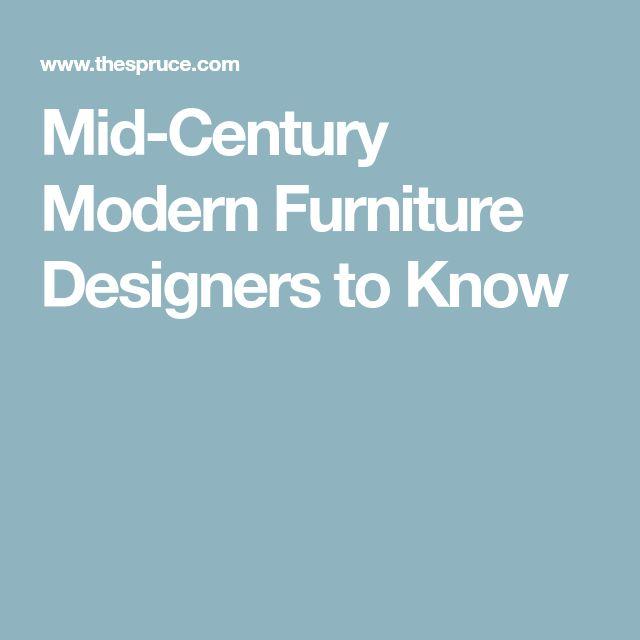 Mid-Century Modern Furniture Designers to Know