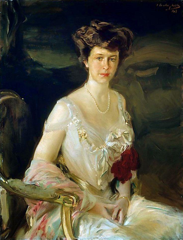 Joaquín Sorolla, portrait of Mrs. Winthrop W. Aldrich (Harriet Alexander, 1888 - 1972)
