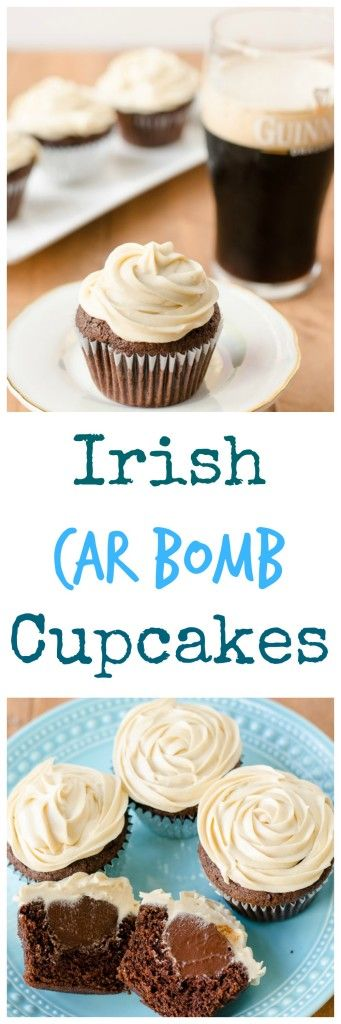 Ever wanted to do a shot and a beer at work? (Like, maybe everyday?) Now you can do it with car bomb cupcakes! Rich chocolate Guinness cupcakes with decadent whiskey ganache and buttery Baileys frosting.