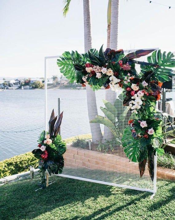 Square Wedding Grid Iron Arch Wedding Arch Ceremony Wedding Etsy Wedding Arches Outdoors Outdoor Wedding Backyard Wedding