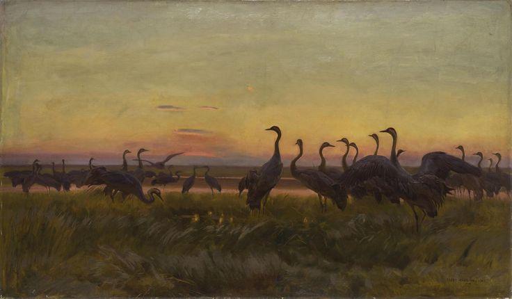 Żurawie (1910), Józef Chełmoński, Muzeum Sztuki w Łodzi