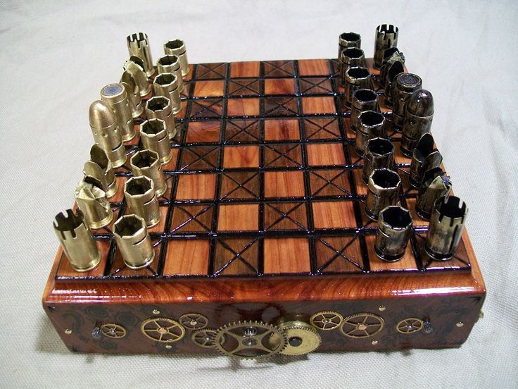 Steampunk chess... Guide for a giant outdoor set