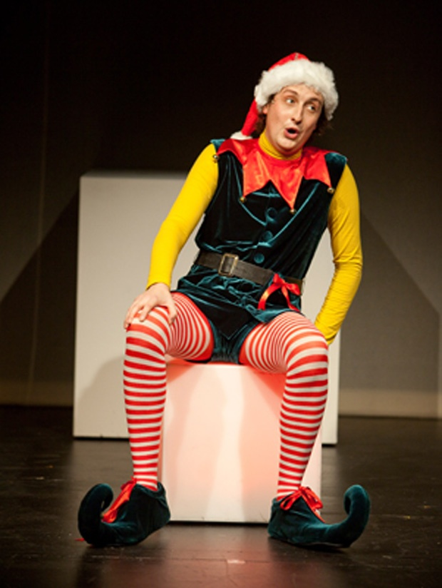 Ryan Beil reveals the darkly humourous underbelly of working as a Macy's department story elf in the Arts Club production of David Sedaris's The Santaland Diaries.