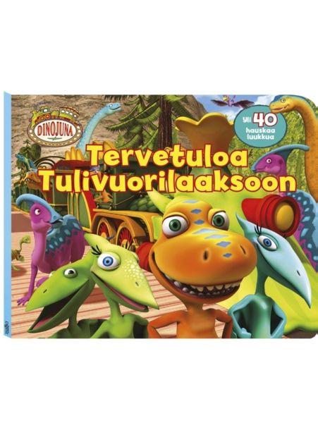 Dinojuna, Tervetuloa Tulivuorilaaksoon -kirjassa on yli 40 kurkistusluukkua.  Reipas Kamu ja sen kasvattiperhe lähtevät hauskalle retkelle Tulivuorilaaksoon. Matkan varrelta löytyy jännittäviä yllätyksiä ja hauskaa dinosaurustietoa.