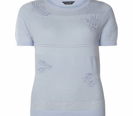Dorothy Perkins Womens Tall Blue Applique Floral Tee- Blue Tall light blue knitted tee with a pointelle detail and applique flowers. The wearing length is approximately 62cm. 100% Cotton. Machine washable. http://www.comparestoreprices.co.uk//dorothy-perkins-womens-tall-blue-applique-floral-tee-blue.asp