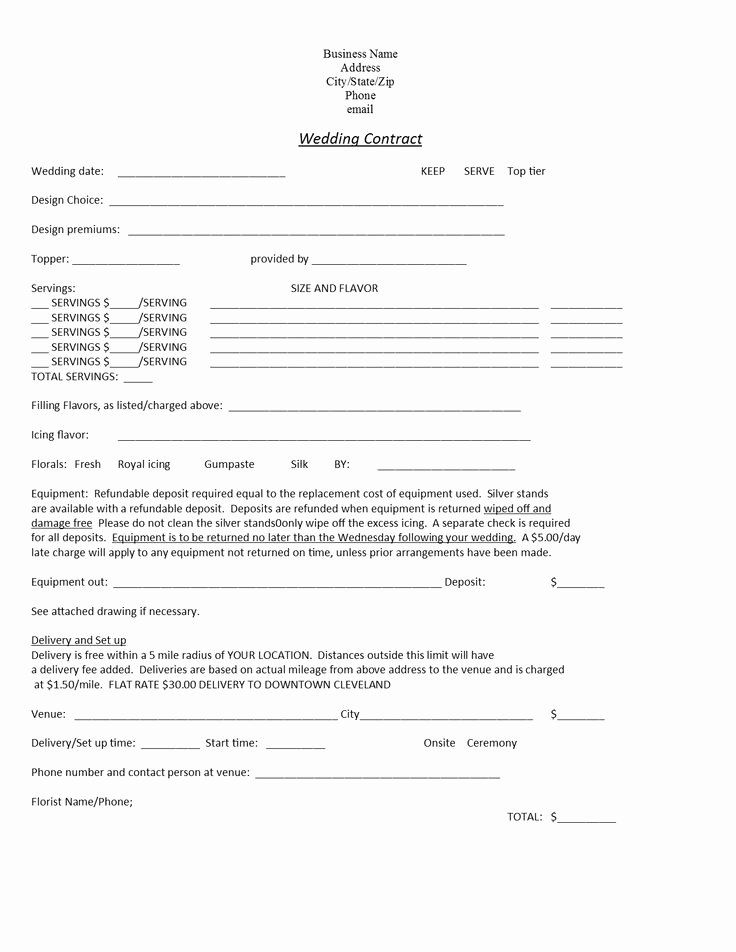 Cake Contract Template New Wedding Cakes Cakes And Wedding On Pinterest In 2020 Wedding Cake Contract Contract Template Wedding Cake Order Form