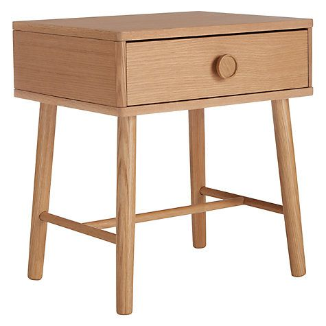 Buy House by John Lewis Button Bedside Table, Oak Online at johnlewis.com