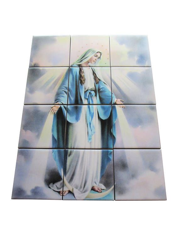 A new wonderful mosaic dedicated to Our Lady of Graces is available now in my Etsy Store: >>> https://www.etsy.com/listing/560036657 <<<  The mosaic is composed by 12 ceramic tiles. Suitable for indoor or outdoor (perfect in a garden, in your prayer room, in a nicho etc.). Free shipping to selected countries. 100% handmade in Italy by @TerryTiles2014  #avemaria #pray #prayforus #ourladyofgraces #grace #ourlady #virginmary #catholic #catholicgifts #christmasgifts #etsyfinds #religious #art…